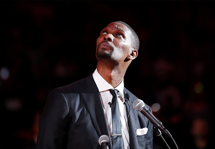 Chris Bosh homenajeado en Miami