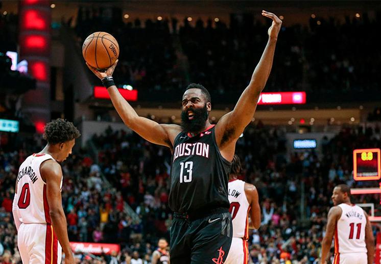 James Harden salvó a los Rockets de Houston