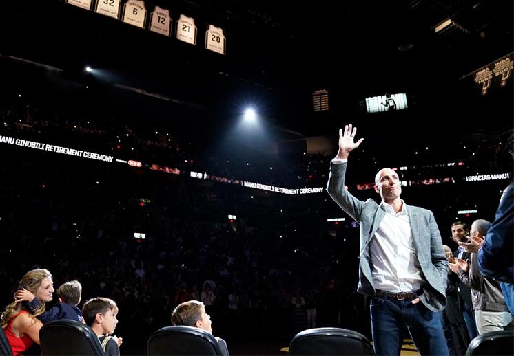 Gracias, Manu. La fiesta de los Spurs