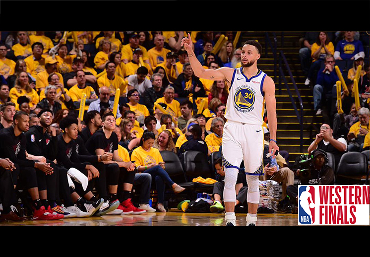 Stephen Curry comenzó encendido la Final del Oeste