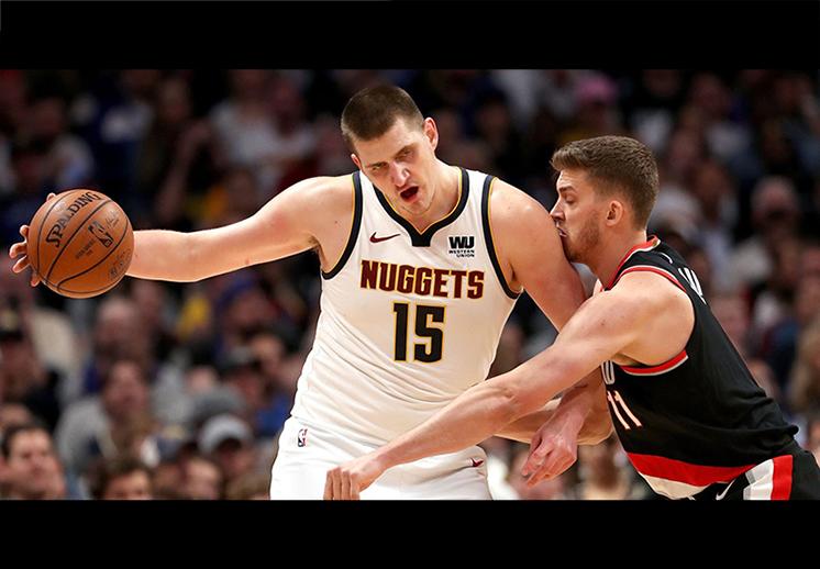Los Nuggets dejaron noqueados a los Blazers