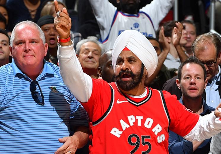 El más grande aficionado de los Raptors de Toronto