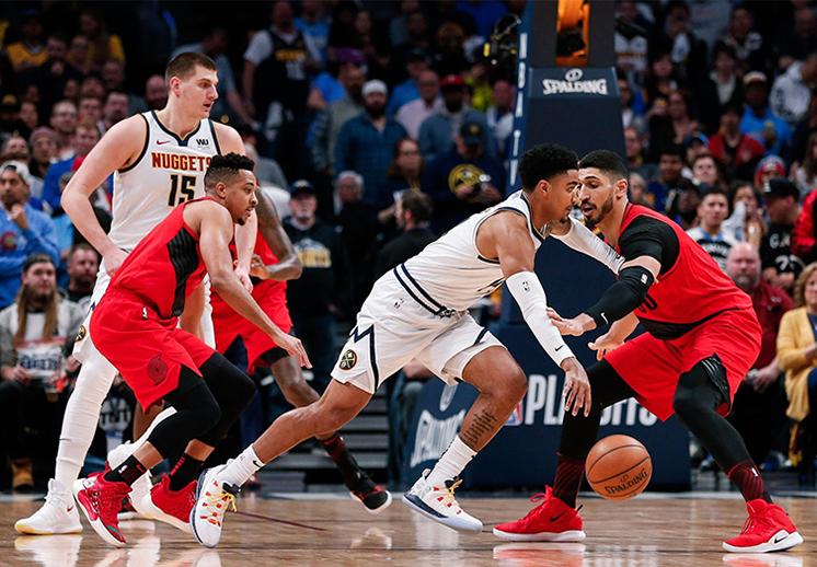 """El """"extraño"""" juego entre Nuggets y Blazers"""