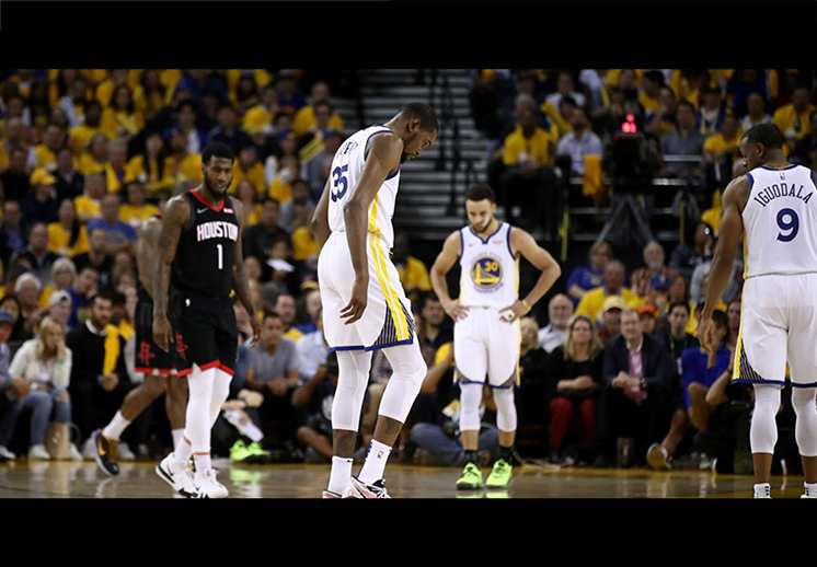Kevin Durant le sacó un susto a los Warriors