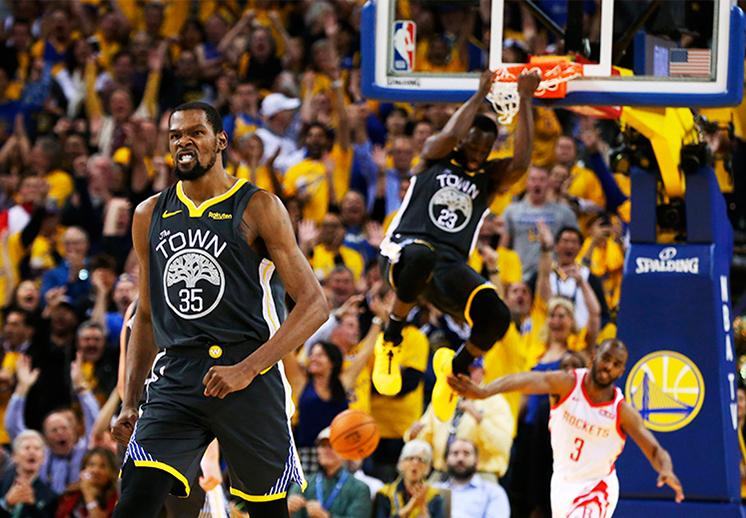El accidentado juego 2 de los Warriors y Rockets