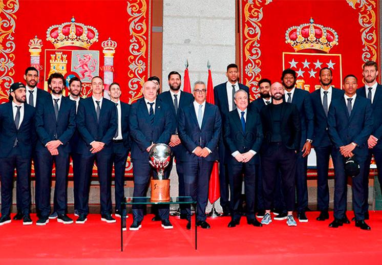 Recepción de campeones para el Madrid