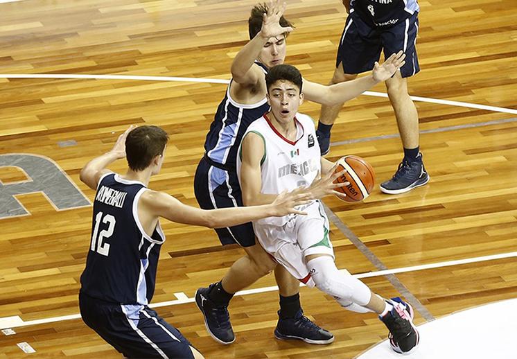 México le dio batalla a Argentina en el FIBA Americas U16