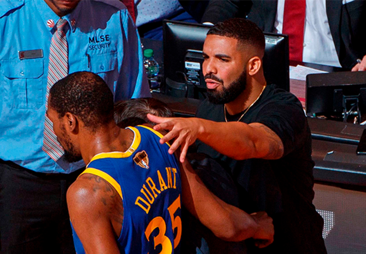 Drake le rinde tributo a Kevin Durant