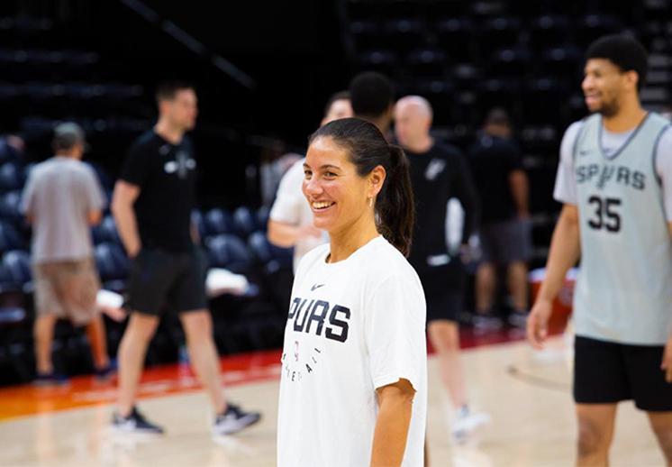 Lorena Infantes de NBA Academy a los Spurs