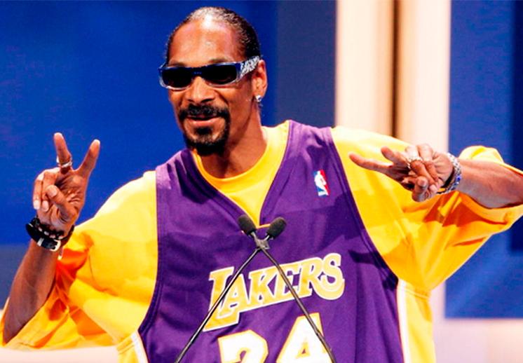 La afición de Snoop Dogg por los Lakers