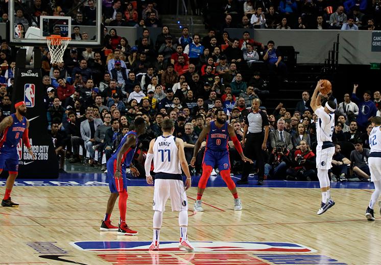 Luka Doncic en Mexico, Mavs contra Pistons en México