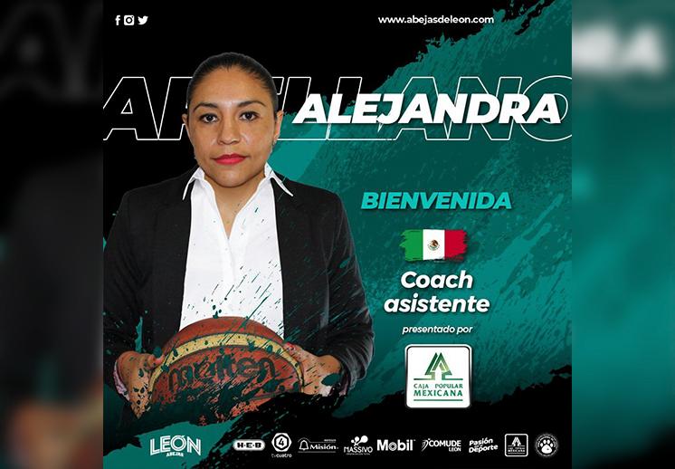 Alejandra Arellano estará en la banca con Abejas de León