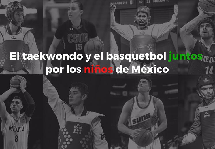 El basquet y el TKD se unen para ayudar