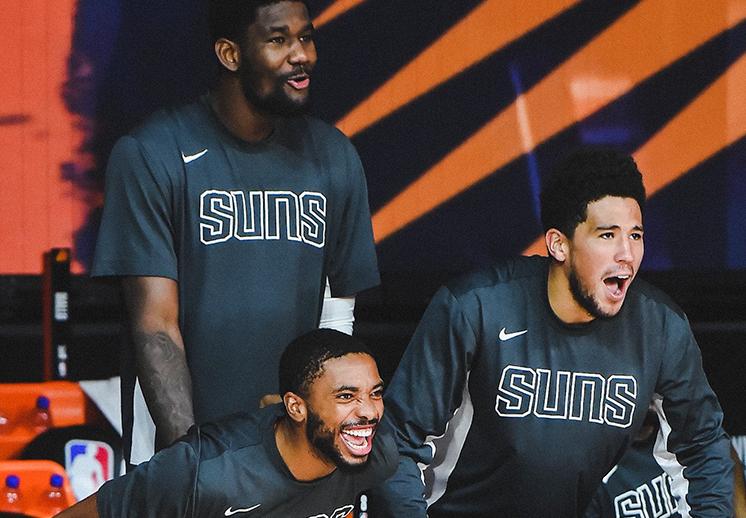 Suns el equipo más encendido en la burbuja