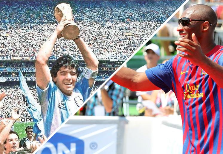 La admiración entre Diego Armando Maradona y Kobe Bryant 1