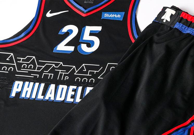 La nueva camiseta de los 76ers de Filadelfia