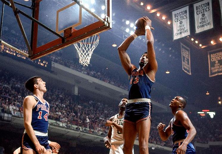 Wilt Chamberlain y su récord imbatible de rebotes