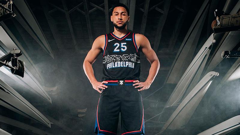 La nueva camiseta de los 76ers de Filadelfia 3