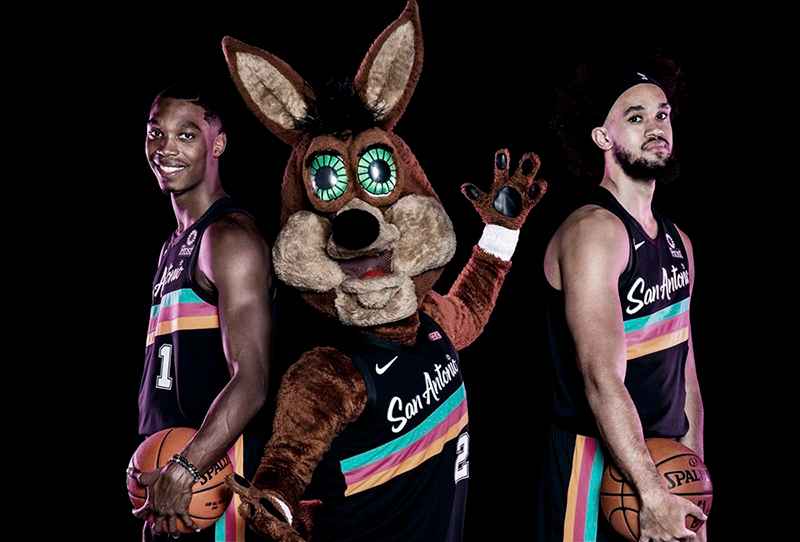 El uniforme de fiesta de los Spurs 1