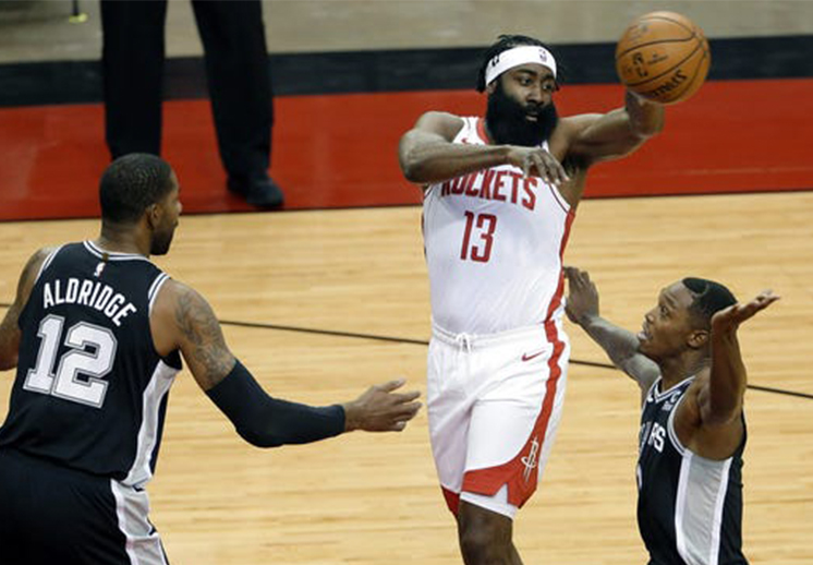 James Harden reapareció con los Rockets de Houston