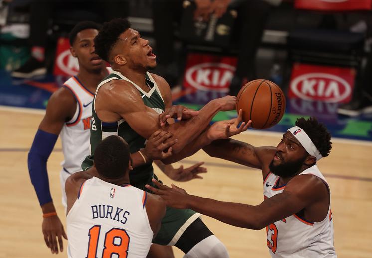 Los Knicks con la victoria rompe quiniela frente a los Bucks