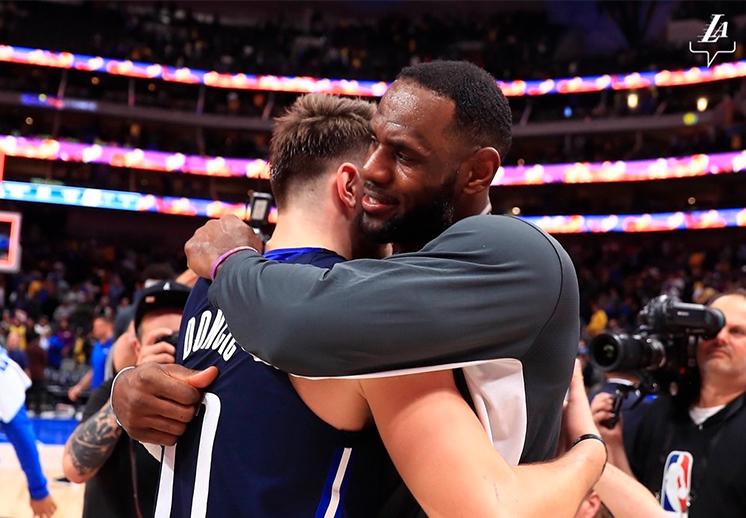 LeBron James quería a Luka Doncic en su equipo