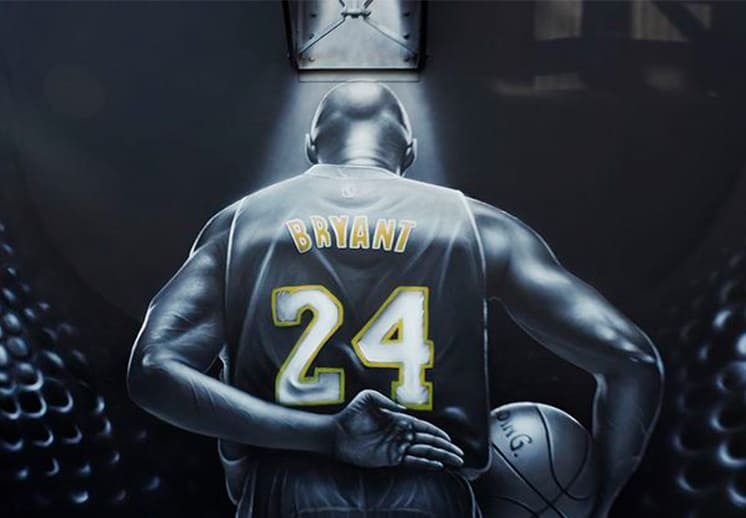 Kobe Bryant inmortalizado en una cancha de basket