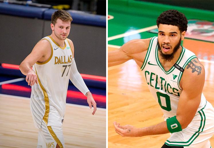 Luka Doncic y Jayson Tatum jugadores de la semana en la NBA