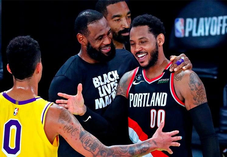 Carmelo Anthony y Kemba Walker respaldan a LeBron