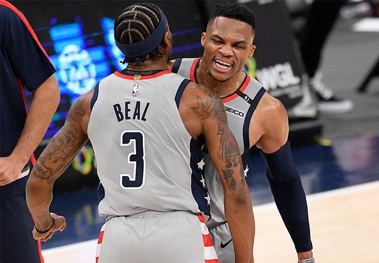 Beal y Westbrook le dieron el triunfo a los Wizards en los últimos segundos