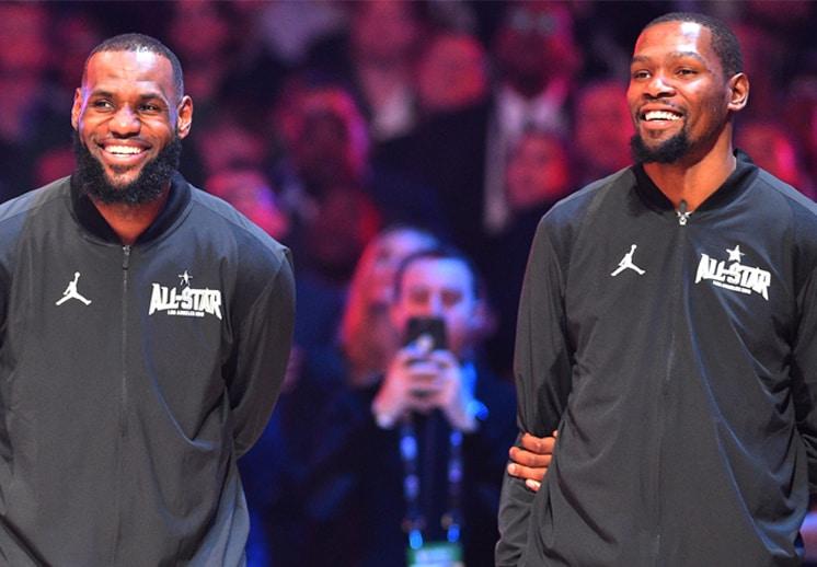 LeBron James y Kevin Durant dominan las votaciones rumbo al Juego de Estrellas de la NBA