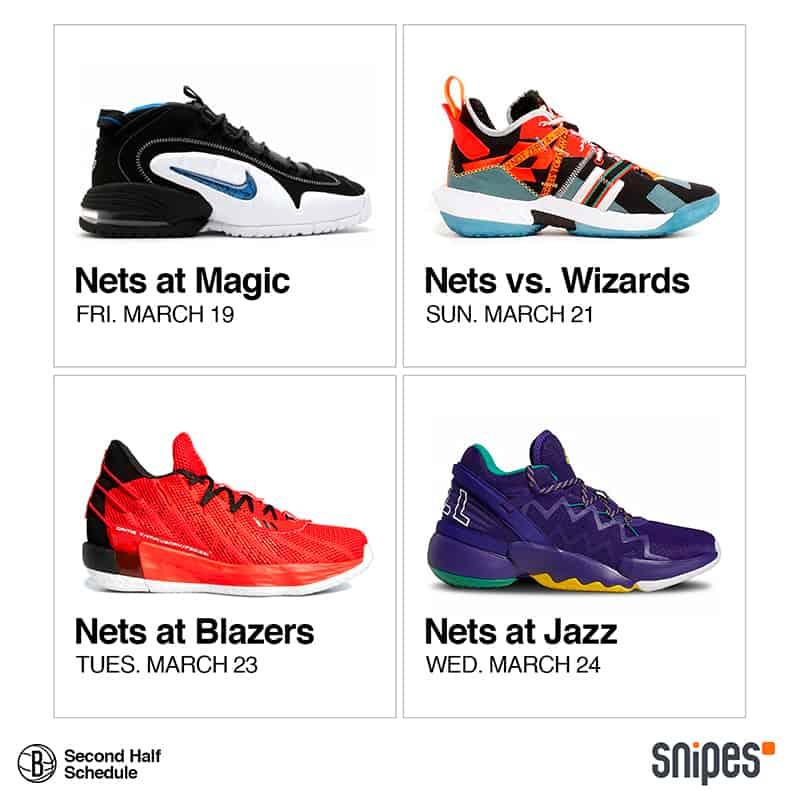 Los Nets se lucen presentando su calendario con sneakers 2