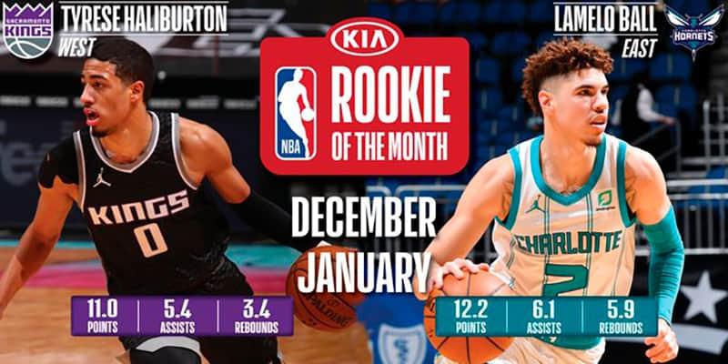 LaMelo y Haliburton son los Novatos del mes en la NBA 1