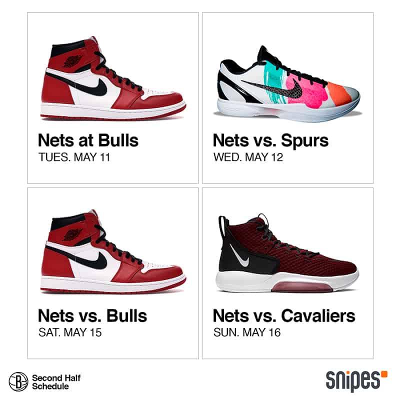 Los Nets se lucen presentando su calendario con sneakers 3