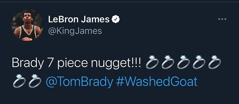 De leyenda a leyenda, la felicitación de LeBron a Tom Brady tras ganar el Super Bowl 3