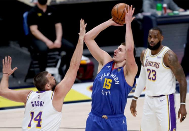 Campazzo y Jokic brillaron, los Nuggets acabaron con la racha de Lakers