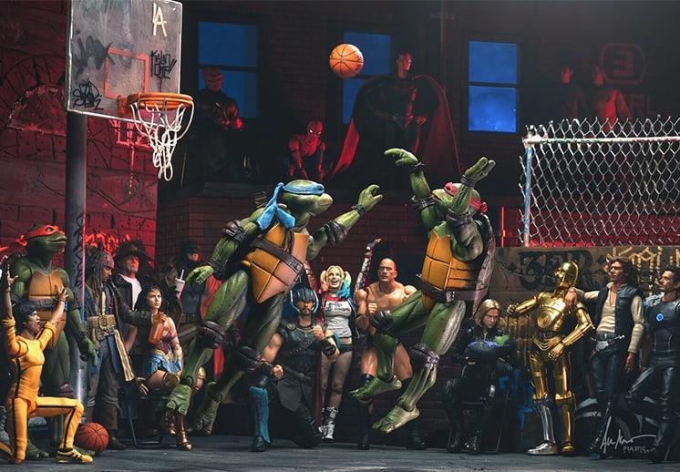 Plastic Ballerz: Juguetes jugando basket