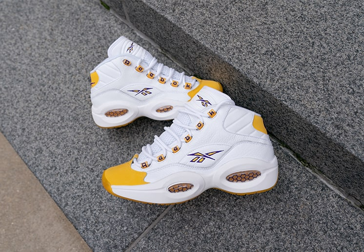 "Reebok Question Mid ""Yellow Toe"": un clásico se viste de amarillo y púrpura DEST"