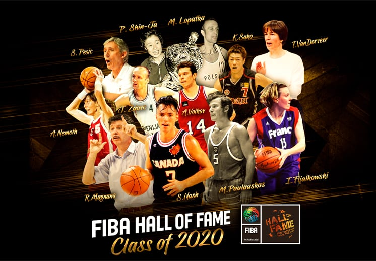Ellos son los nuevos miembros del Salón de la Fama FIBA
