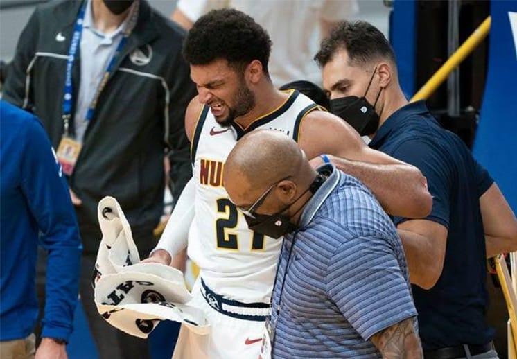 Jamal Murray está fuera, sufre lesión en el ligamento