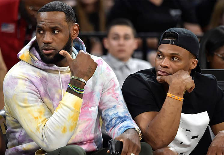 Acompañado de Westbrook, LeBron James manda mensaje a sus haters