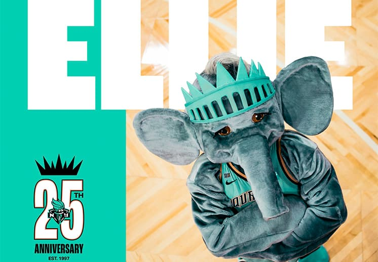 Las NY Liberty estrenan mascota