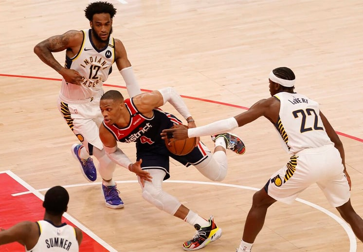 Russell Westbrook impresionante con Wizards