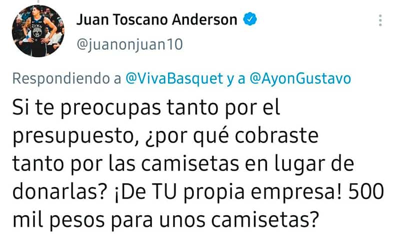 El tema Juan Toscano levantó polémica 5