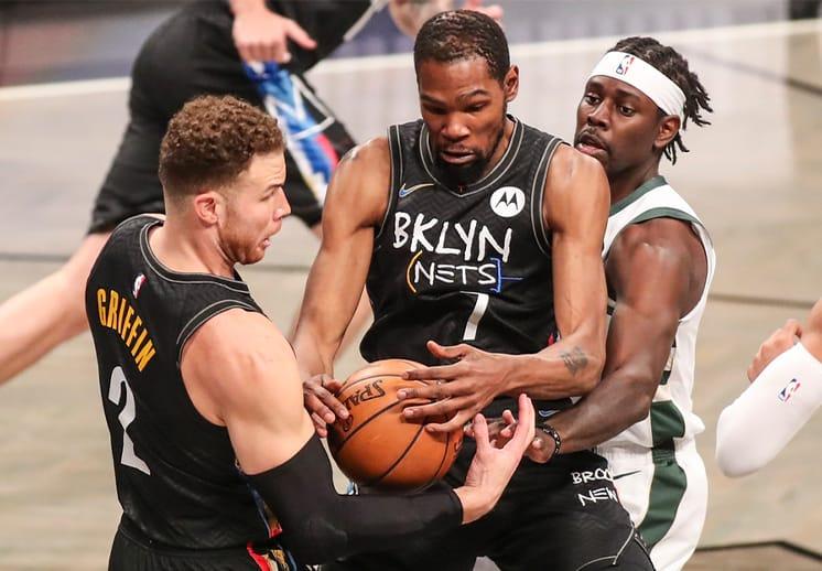 Paliza de Nets a Bucks para ponerse 2-0 en la serie