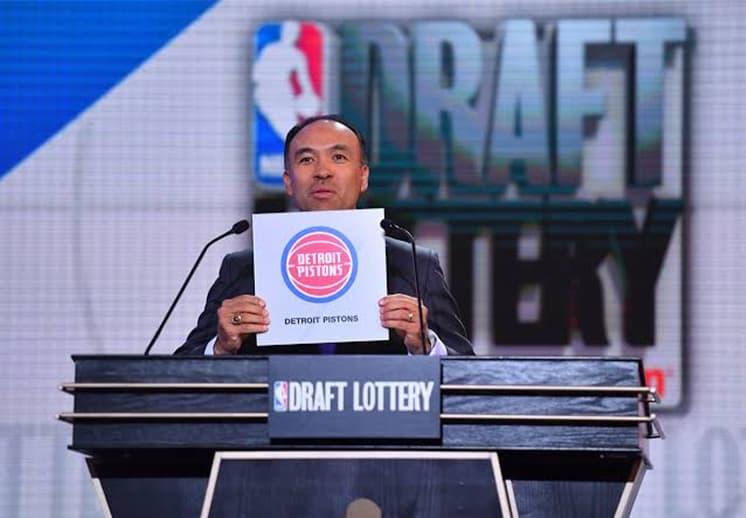 Los Pistons ganaron la lotería del Draft en la NBA