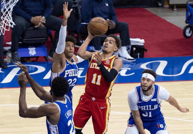 Otro regreso histórico para los Hawks sobre los Sixers