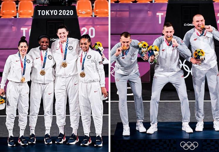 Estados Unidos y Letonia ganan el oro en el basquetbol 3x3 en Tokio DEST