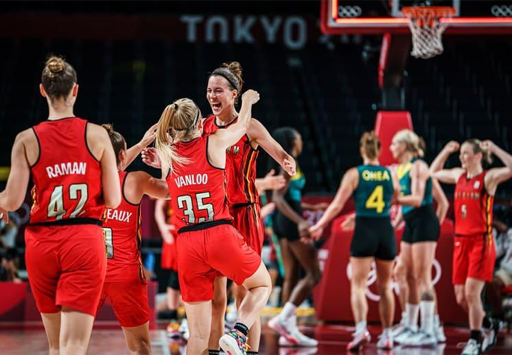 Bélgica sorprende a Australia en el basquetbol femenil en Tokyo 2020