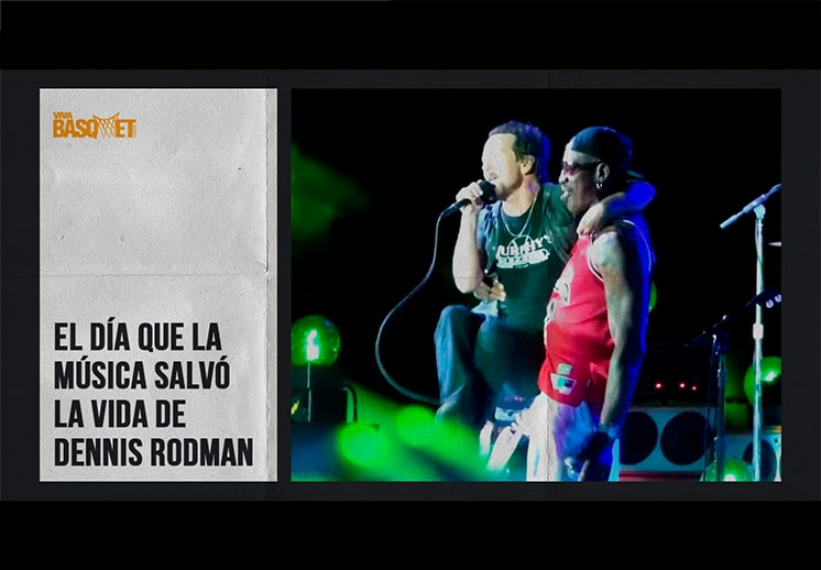 El día que la música salvó la vida de Dennis Rodman